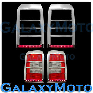 Taillight tail light lamp bezelred led light bar cover for 07 15 image is loading taillight tail light lamp bezel red led light aloadofball Images