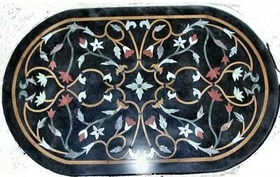 Coffee Table 36 X 24.36 X 24 Marble Coffee Table Top Semi Precious Stones Marquetry Work Home Decor Ebay
