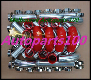 For-Universal-Intercooler-Turbo-2-5-034-Piping-pipe-Kit-red-hose-kits-64mm