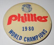 1980 Baseball Pin/Coin Philadelphia Phillies World Series Champions Pinback v4