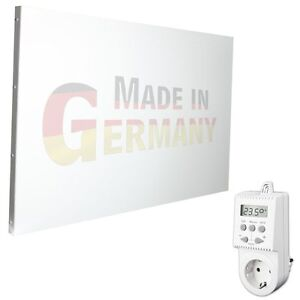 ihd infrarotheizung 900 watt mit thermostat elektroheizung infrarot heizk rper ebay. Black Bedroom Furniture Sets. Home Design Ideas