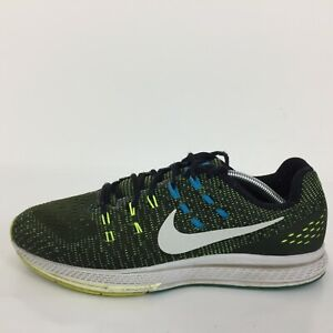 Nike Zoom Structure 19 Green Textile run trainer 806580-010 Hommes UK 10 EUR 45