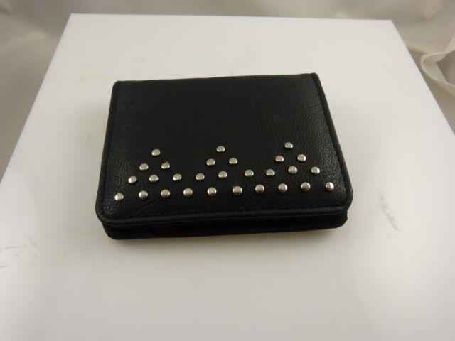 small black id credit card wallet
