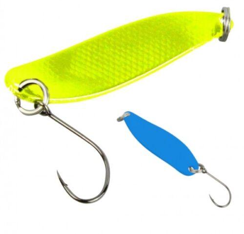 FTM Trout Spoon Forellenblinker Hammer 621 UV Yellow Blue 2,4g 5200621 Spoons