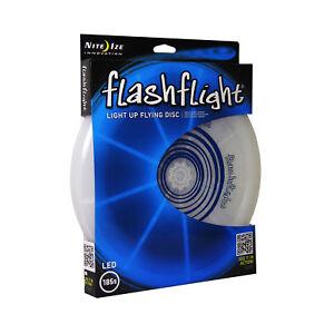 Nite Ize Flashflight LED Light-Up Flying Disc Blue Ultimate Glowing Frisbee 185g