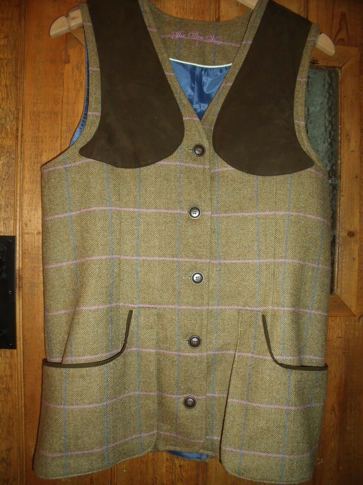 Lakesen Ladies Thrie Estaits Tweed Shooting Hunting Waistcoat size L