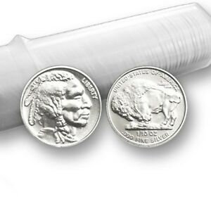 1-10-oz-999-Fine-Solid-Silver-Art-Round-Mint-Uncirculated-034-Buffalo-Design-034