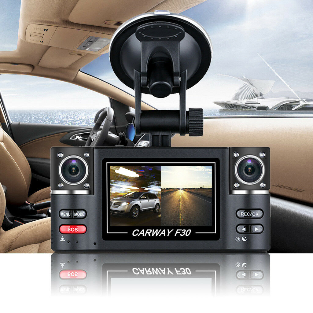 "s-l1600 2.7"" HD 1080P Car DVR Digital Video Double Camera Recorder Night Vision Dash Cam"