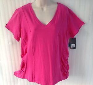 Bally total Fitness Women's Plus Workout Shirt Top sz 18/1X Pink Active Wear New