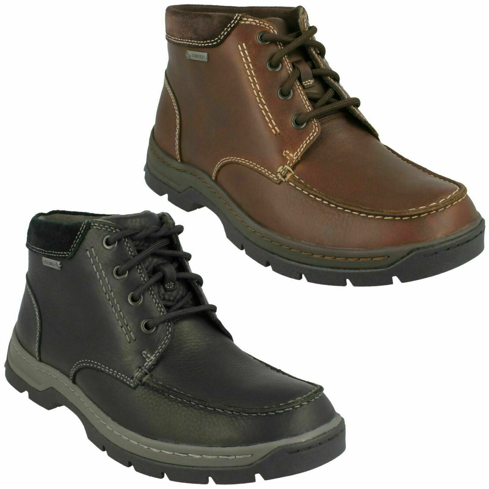 MENS CLARKS STANTEN TIME GORE TEX LACE UP CASUAL WALKING WINTER ANKLE BOOTS SIZE