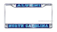 "UNC UNIVERSITY OF NORTH CAROLINA ""ALUMNI"" Mirrored License Plate / Tag Frame"