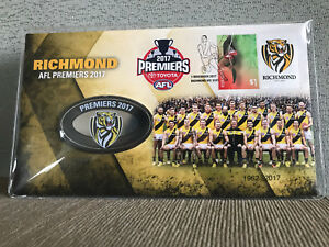New-Mint-Sealed-AFL-2017-Premiers-Richmond-Tigers-Collectors-Medallion-Cover