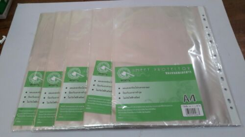Pack of 40,60,80 Economy Weight Clear Poly Sheet Page Protectors Non-Stick A4