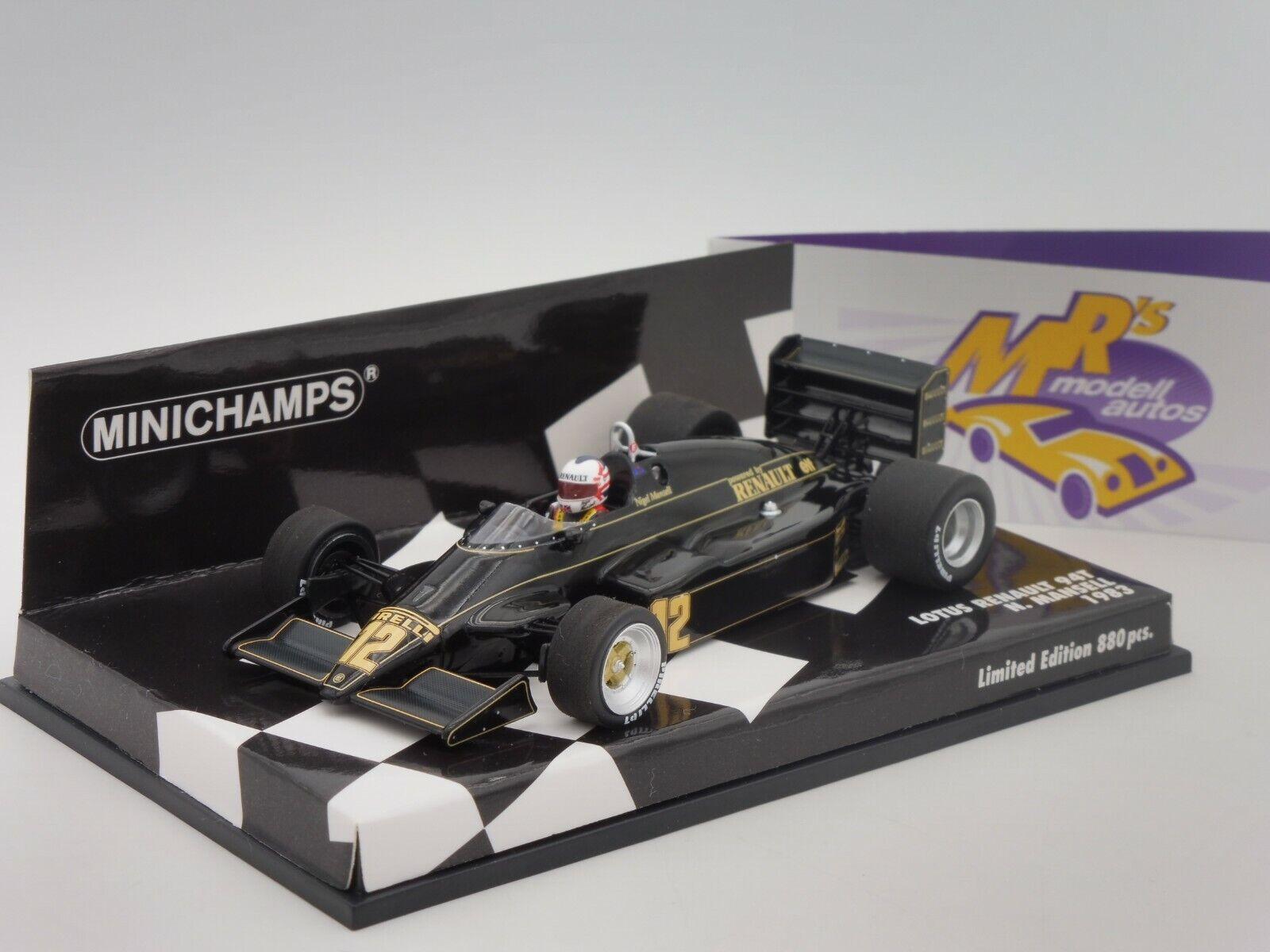 Minichamps 417830012 LOTUS Renault 94T F1 1983 No. 11  Nigel Mansell  1 43