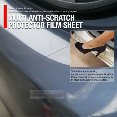 Clear Car Door Sill Trunk Bumper Anti-Scratch Protector Film 0.7X3.9feet For Car