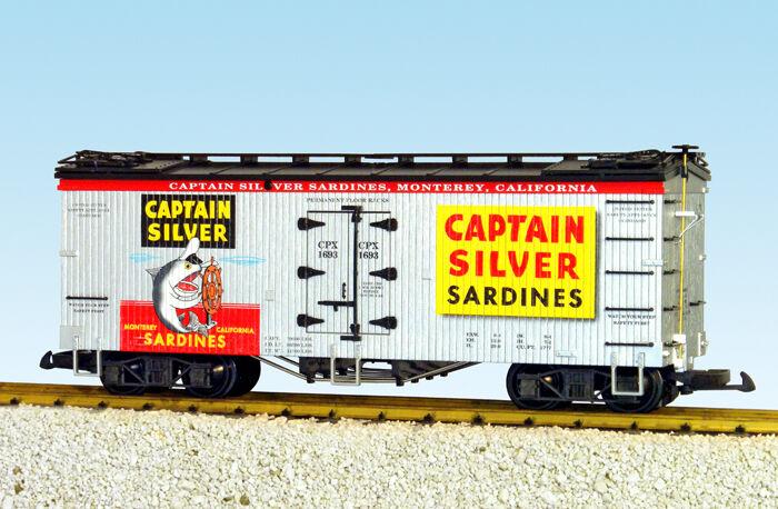 Tren americano clase G refrigerador r16448 capitán plata plata plata   negro 42f
