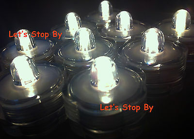 12 LED Warm White Submersible Waterproof Wedding Floral Tea Vase Candle light