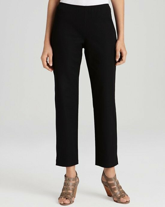 NEW EILEEN FISHER Organic Cotton Twill Ankle Pants Size S