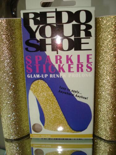 Ripeti/GLAM su la scarpa/borsa/cintura hot Gold Sparkle ADESIVI Girlie NATALE NUOVO CON CONFEZIONE