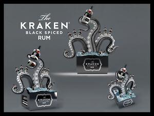 In Metallo Vintage shabby-chic TIN Kraken nero speziato RUM Placca/Frigo Calamita  </span>