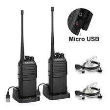 US 18x Radioddity Ga-2s UHF 16ch Squelch Two Way Radio 3 Cable Baofeng 888s