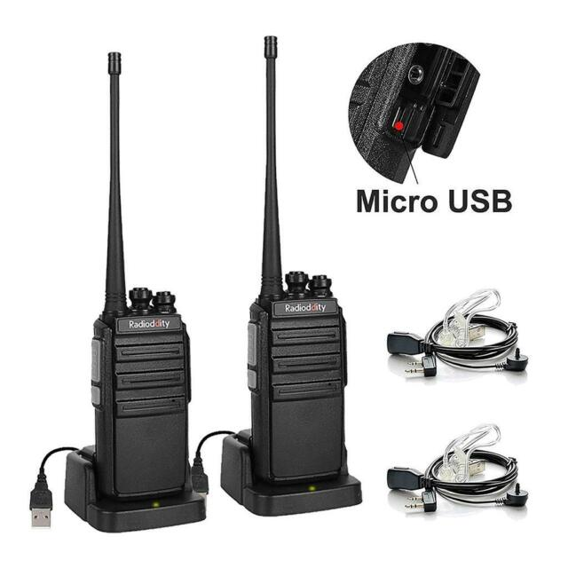 1paire Radioddity GA-2S UHF 400-470 MHz 16Channel VOX Voice Prompt Talkie Walkie