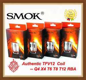 Authentic SMOK TFV12 Coil V12-Q4/X4/T6/T12/RBA for TFV12 Cloud Beast King Tank #