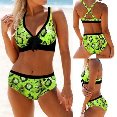 Damen Badeanzug Tankini Bikini Tops Boxershorts Hose Zweiteiligen Strandkleidung