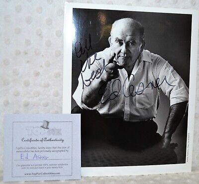 "Ed Asner Autographed/signed ""lou Grant"" 8x10 Photo W/ Coa Rapid Heat Dissipation Entertainment Memorabilia"