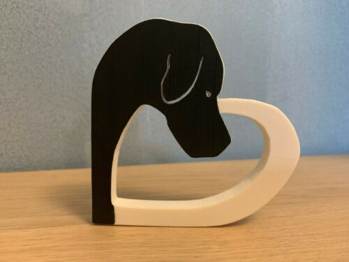 Black Faced Pointer Dog In Heart Shape Home Ornament