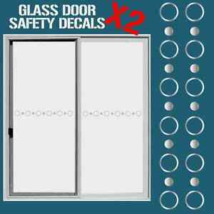 Attirant Image Is Loading GLASS DOOR HAZARD PROTECTION DECAL STICKER SET SAFETY