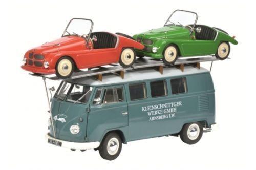 Schuco VW T1 Bus  Pequeño Diseño  con 2x Pequeño Diseño F 125 1 18