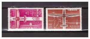 S24814) France 1962 MNH Sport Flying 2v Aircrafts
