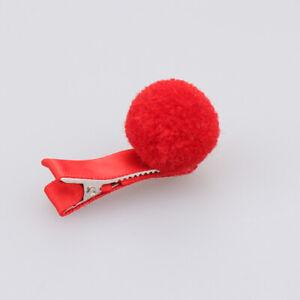 Girls-Hair-Pin-Baby-Kids-Hair-Clip-Cute-Color-Ball-Hair-Accessories-Red
