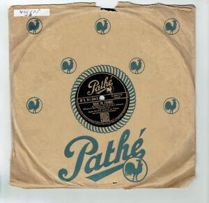 78T-25cm-Andre-BAUGE-Disk-Phonograph-Sung-PINK-DE-FRANCE-PATHE-91063-RARE
