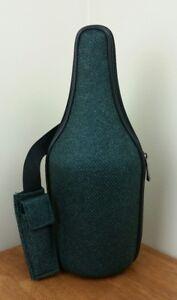 Caddy-O-Wine-Bottle-Cooler-Carrier-Picnic-Insulated-Shoulder-Bag-Strap-Green