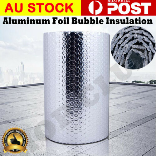 10//20//30M*1.2M SILVER AIR BUBBLE CELL INSULATION REFLECTIVE FOIL ROOF ALUMINIUM