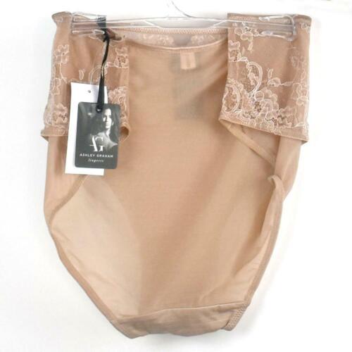Ashley Graham Keyhole Hi Cut Jersey Dentelle Panty 401432 Taille Choisir Couleur X-2X NEUF