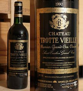 Charmant 1990er Chateau Trotte Vieille-saint Émilion-top Millésime!!!-afficher Le Titre D'origine