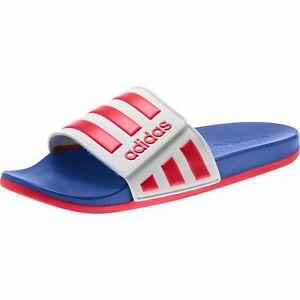 adidas-Adilette-Comfort-Pantolette-Sandale-Slides-ADF-Klett-EG1346-Rot-Weiss-Blau