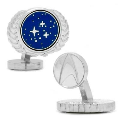 STAR TREK STARFLEET UNITED FEDERATION OF PLANETS BADGE MENS CUFFLINKS GIFT