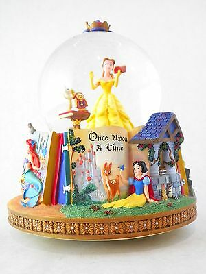 Disney Princess Enchanted Forest Snow Globe Music Belle Snow White Cinderella