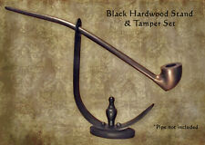 MacQueen Lord of the Churchwarden Black Hard Wood Pipe Stand and Tamper Rings
