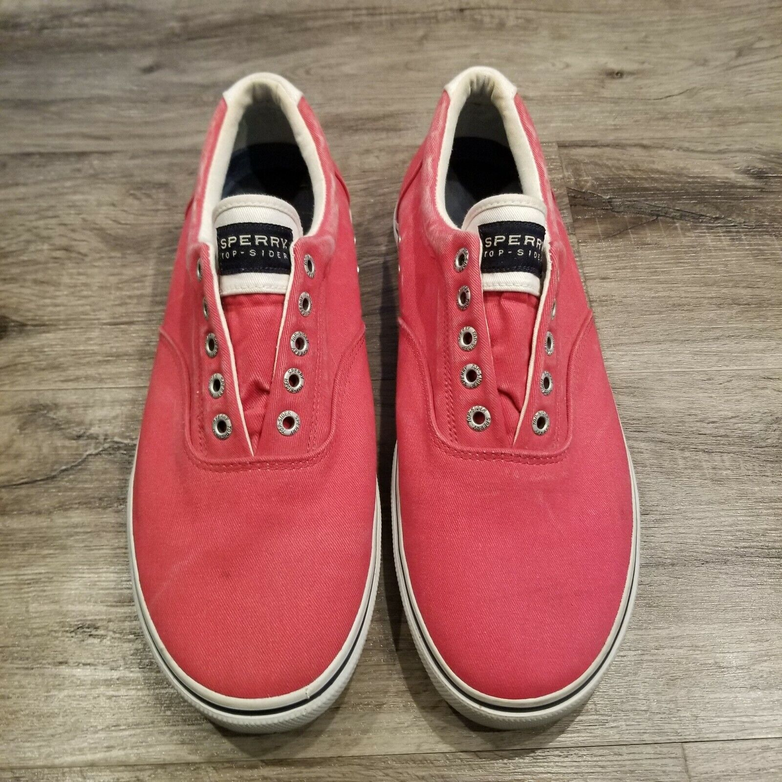 Sperry Top-Sider Men's Laceless Red Slip On - Size 10.5