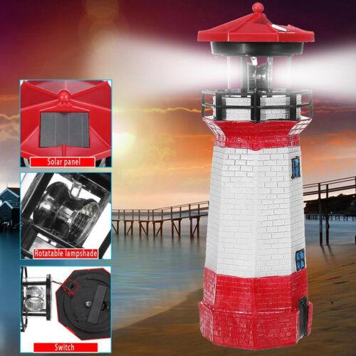 LED solarbetriebene rote Leuchtturm-Statue die Hof-Patio-Dekor dreht