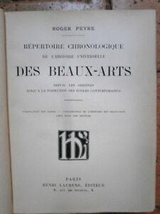 Repertoire-Chronologique-de-l-039-histoire-universelle-des-beaux-arts-Roger-Peyre