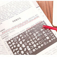Metal Hollow Drawing Template Ruler Stencil Tool Stationery Kids DIY Crafts Toys