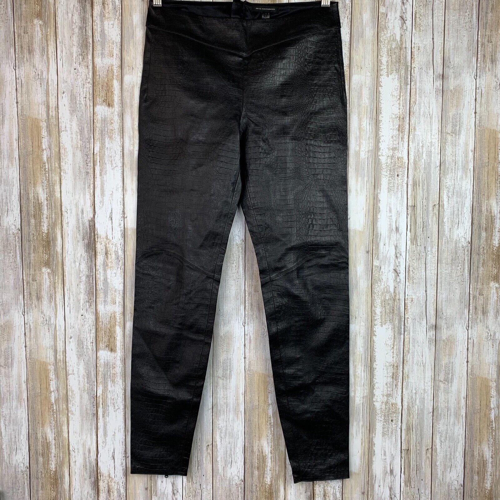 1150 Kiki De Montparnasse Brown Croco Leather Legging Moto High Rise L Large