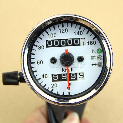 Dual Odometer Speedometer Motorcycle Universal LED Backlight Gauge Signal Light