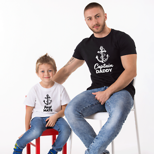 17692626 Father Son Matching T-Shirts Captain Daddy - First Mate Daddy and Me ...